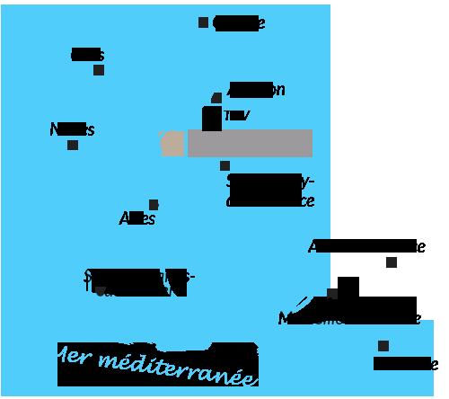 Plan d'accès à nos gîtes et chambres d'hôtes en Provence